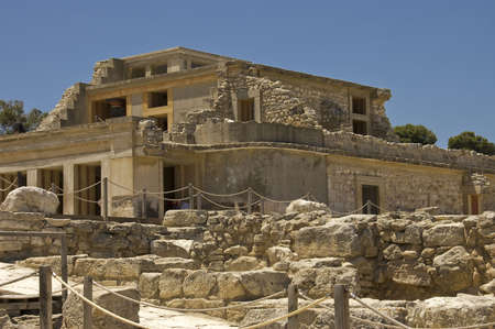 South side of Knossos Palace site in  Crete Island, Greece Stock Photo