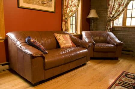 warm living room Stock Photo