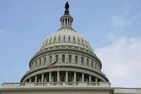 Washington Capitol dome  on a blue sky , DC, USA