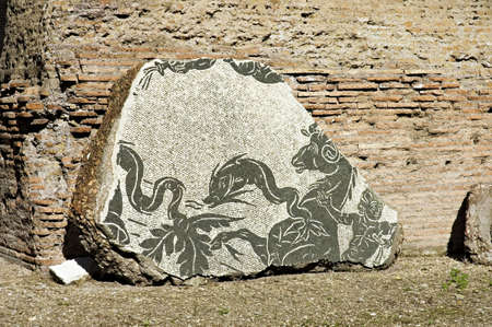Caracalla mosaic 1, details, from Baths or Thermae of Caracalla, Rome, Italy photo