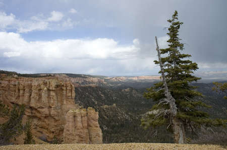 The endless vista of  Bryce Canyon National Park and  its beautiful sky and clouds, Utah, USA photo