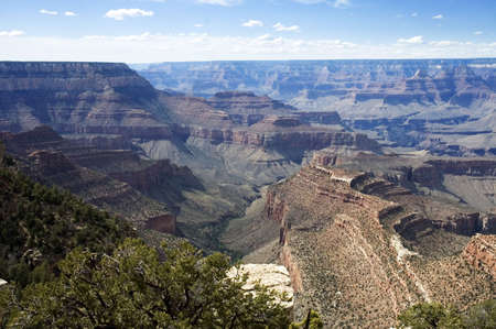 Panoramic view of Grand Canyon  and Colorado River,  in Arizona, USA Banco de Imagens - 2796303