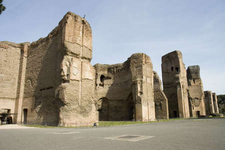 the Thermae of Caracalla or Baths of Caracalla, ancient roman public baths and leisure centre,  Rome, Italy Stock Photo - 2885741