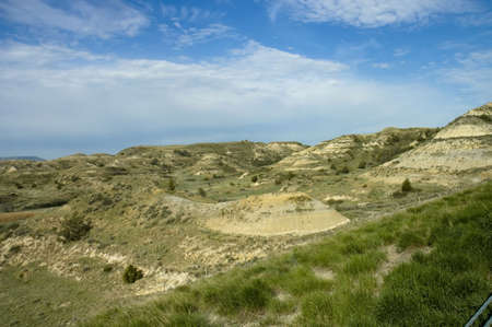 north dakota: Scenic view of the Painted Canyon in Theodore Roosevelt National Park, North Dakota