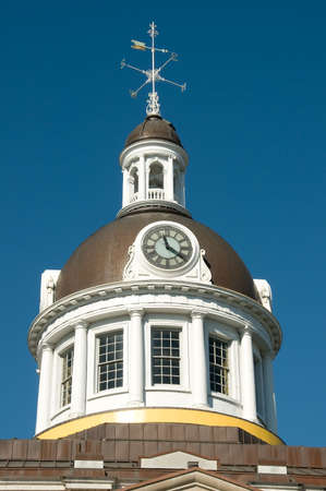 clock tower of the City Hall in Kingston, Ontario, Canada