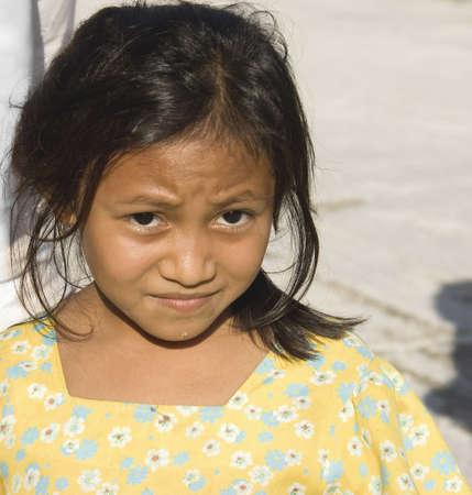 ユカタン、メキシコ - 12 月 14 日;マヤの少女、小さな村、メキシコ ・ ユカタン半島、2006 年 12 月 14 日の通りの典型的な肖像画