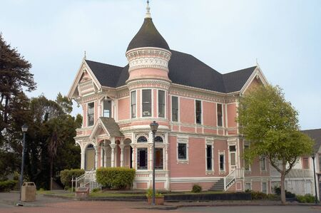 ARCATA, CALIFORNIA - MAY 9th; beautiful pinkish mansion, Victorian sytle, Arcata, California, 9th May, 2006