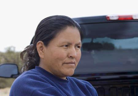 typical: ARIZONA, USA - APRIL 27TH; typical portrait of navajo woman,Canyon de Chelly, Arizona, 27th April 2006