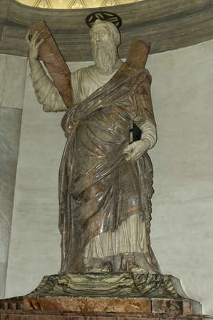 st peter: Vatican, Rome, Italy  - March 26th, 2006 : St Peter statue inside of basilic of St Peter, Rome