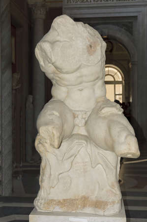 Rome, Italy - March 31th, 2006 : Roman sculpture  in the room of the muses in the Vatican Museum Rome Italy Stock Photo - 9691067