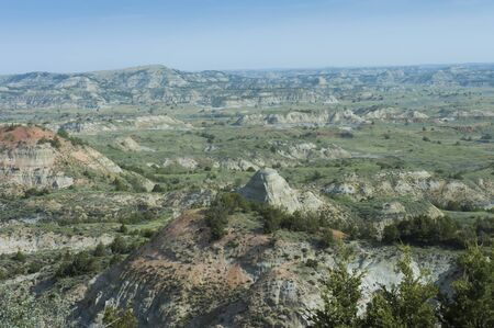 Painted Canyon at Theodore Roosevelt National Park, North Dakota, USA