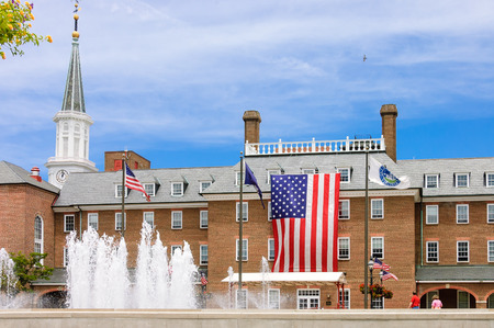 fountain in front of Alexandria city hall in Virginia, USA
