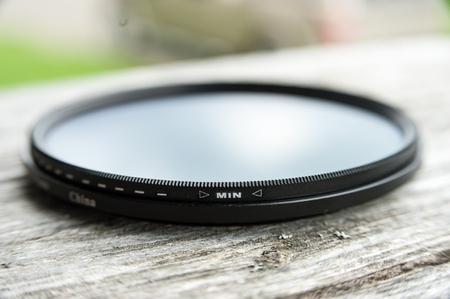 close view of a fader lens for a  D700 camera