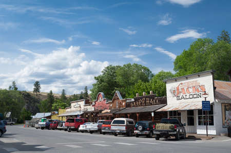 Winthrop, Wa. USA - June 18, 2009 :street scene with view of Saloon and dance hall in Winthrop, Washington state, USA