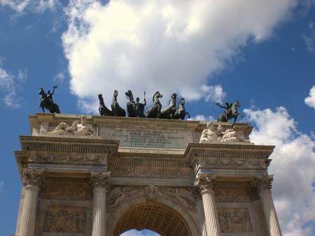 Milan peace arch, detail