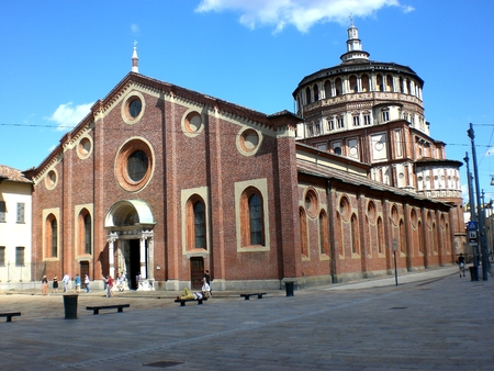 Church of Santa Maria delle Grazie in Milan, Italy.