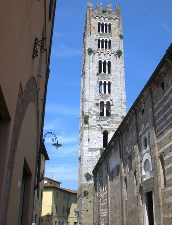Old tower, Lucca, Tuscany.