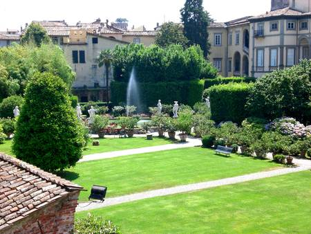 Pfanner Palace, view from the Wall, Lucca, Italy.