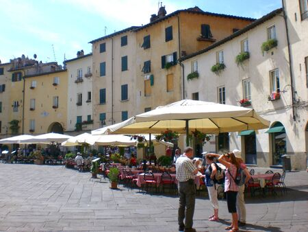 Roman Amphitheatre Square, Lucca. June 2014.