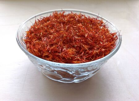 Saffron in a bowl