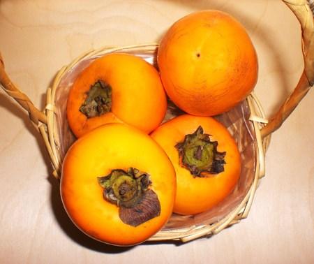 Natural fruits, ripe persimmons
