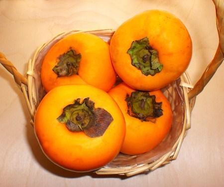 Local fruit, ripe persimmons