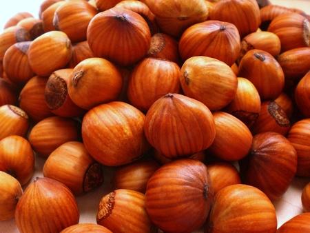 Fresh hazelnuts Archivio Fotografico