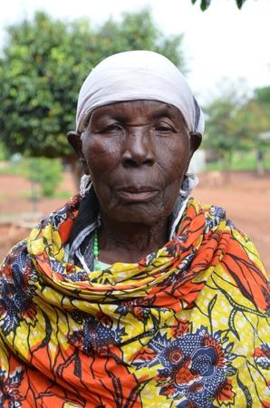 Donna anziana Alur, West Nile, Uganda