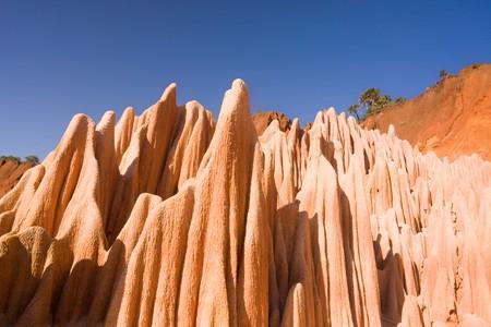 Rouge tsingy de Diego Suarez, Madagascar.