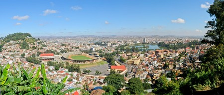 Vue panoramique de Tananarive, la capitale de Madagascar