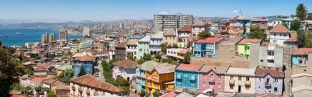 Vue panoramique sur la ville historique de Valparaiso (Chili), patrimoine mondial.
