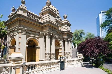 Sur la colline de Santa Lucia, à Santiago du Chili Banque d'images