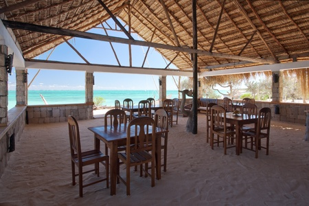 Restaurant of a resort in Ankasy, south-western Madagascar photo