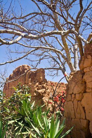 adobe wall: Tamboo, adobe muro tipico malgascio altopiani