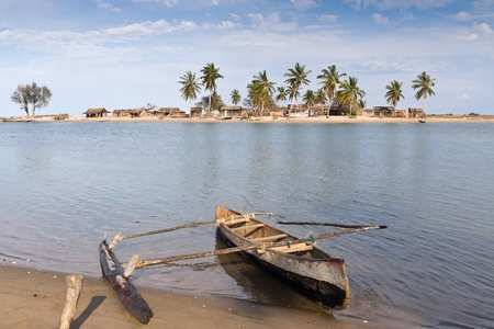 The vezo village of Belo sur Mer, western Madagascar photo