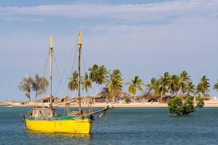 dugout: The vezo village of Belo sur Mer, western Madagascar Stock Photo