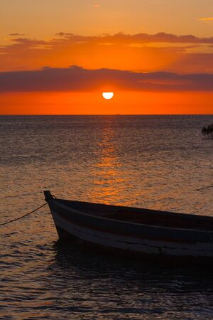 Sunset in the Antsiranana bay (Diego Suarez), north of Madagascar photo