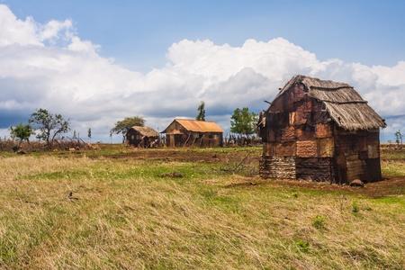 Antakarana village près de Antsiranana, au nord de Madagascar Banque d'images