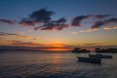Sunset on the Antsiranana bay (Diego Suarez) northern Madagascar photo