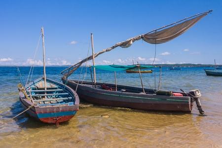 Traditional fishing boat in the emerald sea of Antsiranana (Diego Suarez), north of Madagascar photo