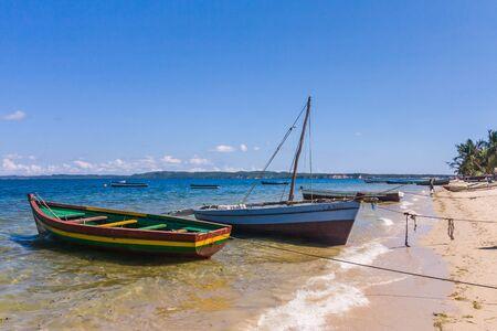 Traditional fishing boat in the emerald sea of Antsiranana (Diego Suarez), north of Madagascar Stock Photo - 12902761