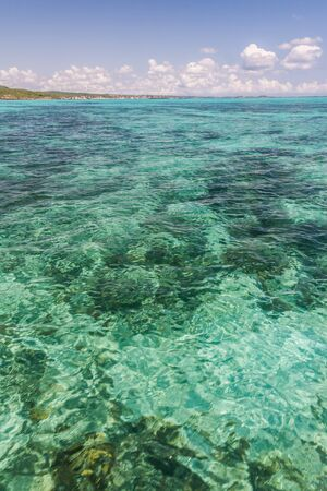 The emerald sea of Antsiranana bay  Diego Suarez , northern Madagascar photo