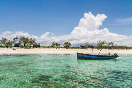 Traditional fishing boat in the emerald sea of Antsiranana  Diego Suarez , north of Madagascar photo