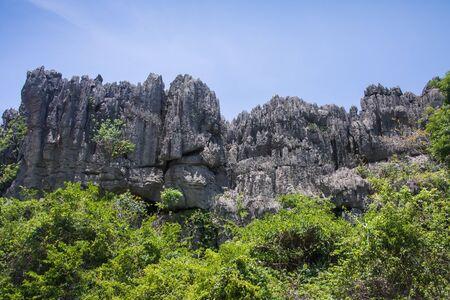 massif: Ankarana Massif, northern Madagascar Stock Photo