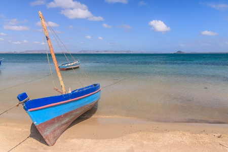 Traditional fishing boat in the Antsiranana bay (Diego Suarez), north of Madagascar photo