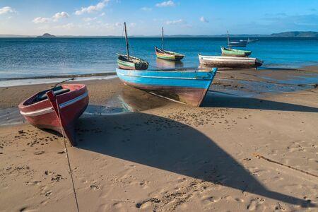 Traditional fishing boats in the Antsiranana bay (Diego Suarez), north of Madagascar photo