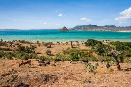 diego: The sugarloaf of Antsiranana bay (Diego Suarez), northern Madagascar Stock Photo