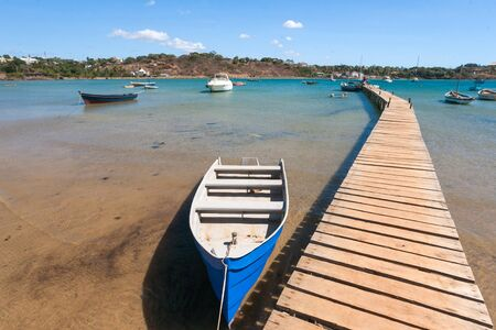 Pontoon of the marina of Diego Suarez (Antsiranana), north of Madagascar photo