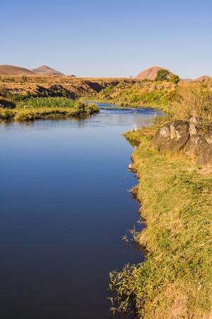 Lily river near Ampefy, Madagascar photo