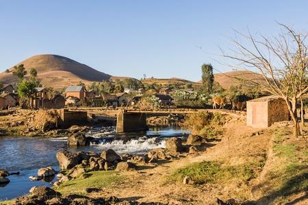 Typical village of Malagasy highlands near Ampefy, Madagascar Stock Photo - 13249122